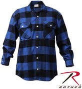 Rothco Men's Extra Heavy Weight Brawny Flannel Shirt -, Blue