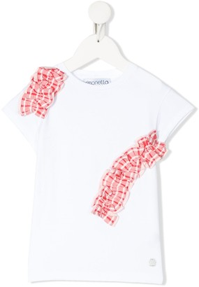 Simonetta frill-detail short sleeve T-shirt