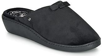 Isotoner 97216 women's Flip flops in Black