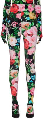 Richard Quinn Black Floral Leggings