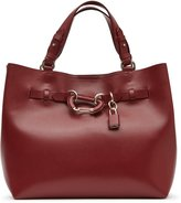 Reiss Bleecker - Structured Leather Tote in Red, Womens