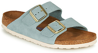 Birkenstock ARIZONA SFB LEATHER women's Mules / Casual Shoes in Blue
