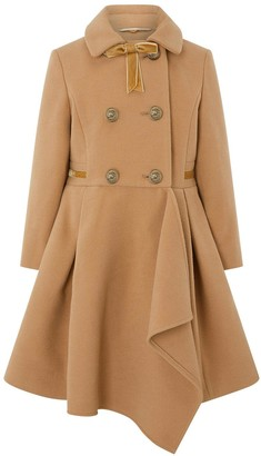 Monsoon Girls Camel Waterfall Coat - Camel