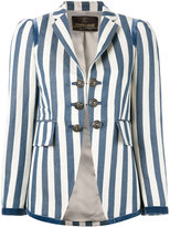 Roberto Cavalli striped blazer - women - Cotton/Ramie/Polyester/Viscose - 42