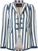 Roberto Cavalli striped blazer - women - Cotton/Ramie/Polyester/Viscose - 44