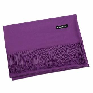 London Scarves Cashmere wrap stole shawls soft cozy quality pashmina unisex (Purple)