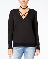Almost Famous Juniors' Strappy-Front Sweatshirt