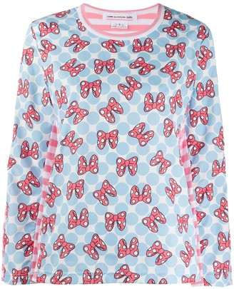 COMME DES GARÇONS GIRL x Disney striped Minnie Mouse top