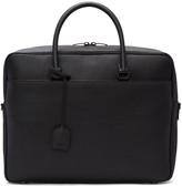 Saint Laurent Black Grained Calfskin Briefcase