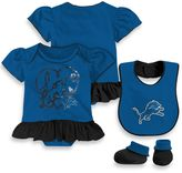 NFL Detroit Lions Size 24M 3-Piece Girl Creeper Bib and Bootie Set