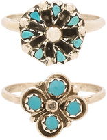 Natalie B Cactus Clover & Mini Blossom Ring Set