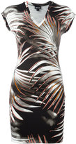 Just Cavalli leaves print T-shirt dress - women - Viscose/Spandex/Elastane - 40