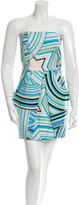 Emilio Pucci Strapless Printed Dress