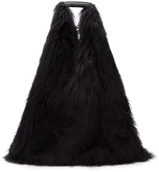 MM6 MAISON MARGIELA Reversible Black Faux-Fur Shopping Tote