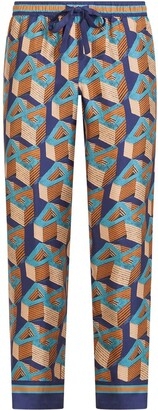 Dolce & Gabbana 3D logo print pyjama trousers
