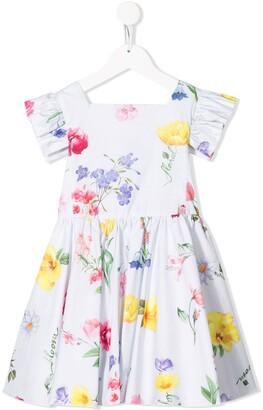 Lapin House Floral Print Dress
