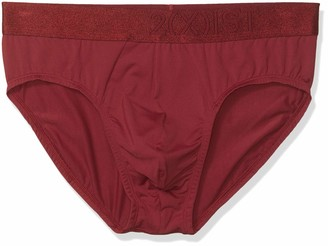 2xist Mens Electric No Show Brief Tawny Port Large