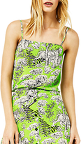 Warehouse Tiger Print Cami, Green