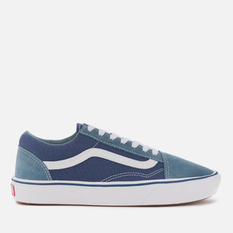 Vans ComfyCush Suede/Textile Old Skool Trainers - Blue Mirage /Blue Print
