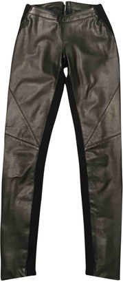 Gareth Pugh Black Leather Trousers