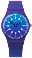 Swatch Men's Crazy Sky SUOV400 Rubber Swiss Quartz Fashion Watch