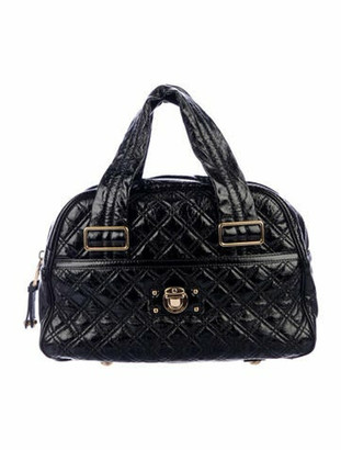 Marc Jacobs Quilted Leather Bowler Bag Black