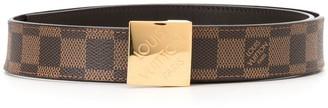 Louis Vuitton Carre logo belt