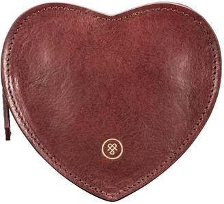 Maxwell Scott Bags Maxwell Scott Leather Heart Handbag Organiser - Mirabellal Wine