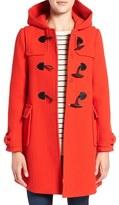 Kate Spade Women's Hooded Wool Blend Walking Coat