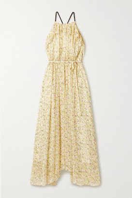 Jason Wu Ruffled Floral-print Crepon Maxi Dress - Ecru