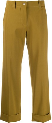 Alberto Biani Cropped Wide Leg Trousers
