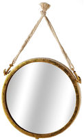 Asstd National Brand Small Gold Wall Mirror with Rope Anchors