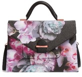 Ted Baker Ethereal Posie Faux Leather Satchel - Black