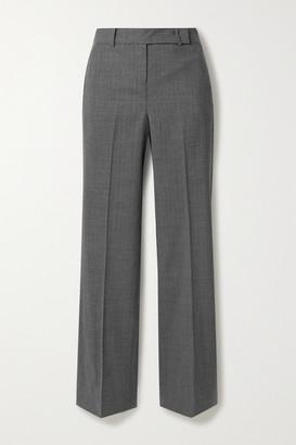 MICHAEL Michael Kors Wool-blend Straight-leg Pants - Gray