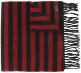 Saint Laurent striped fringed scarf