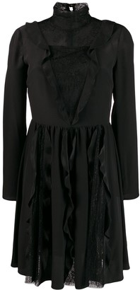 RED Valentino RED(V) lace embellished pleated dress