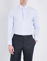 Canali Micro-check regular-fit cotton shirt