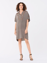Diane von Furstenberg Maxine Stretch-Georgette Shift Dress