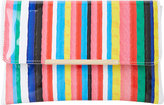 Dune Bambu Stripe-print clutch bag