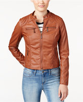 Joujou Jou Jou Juniors' Zip Front Faux-Leather Moto Jacket