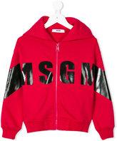 MSGM logo print hoodie - kids - Cotton - 4 yrs