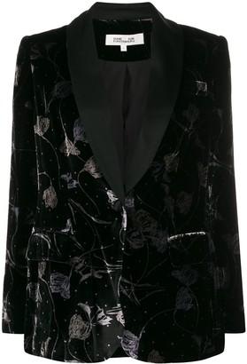 Dvf Diane Von Furstenberg Floral Velvet Blazer