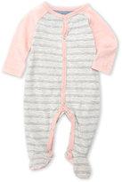 7 For All Mankind Newborn/Infant Girls) Stripe Slub Knit Footie