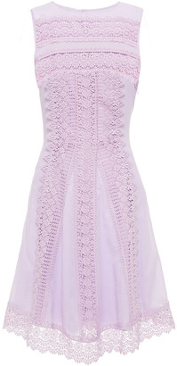 Charo Ruiz Ibiza Ona Crocheted Lace-trimmed Cotton-blend Voile Mini Dress
