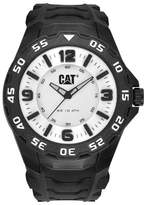 Caterpillar Cat Men's Quartz Watch with White Dial Analogue Display and Black Rubber Strap LB.111.21.231