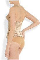Ender Legard Corsetry Grace stretch-silk satin plunge corset