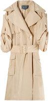 Halston Silk Trench Coat