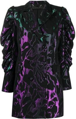 FEDERICA TOSI Metallic-Jacquard Blazer Dress