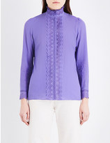 Vanessa Bruno Gina geometric-lace ramie-blend blouse
