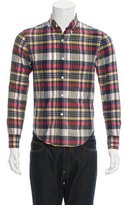 Band Of Outsiders Madras Plaid Button-Up Shirt